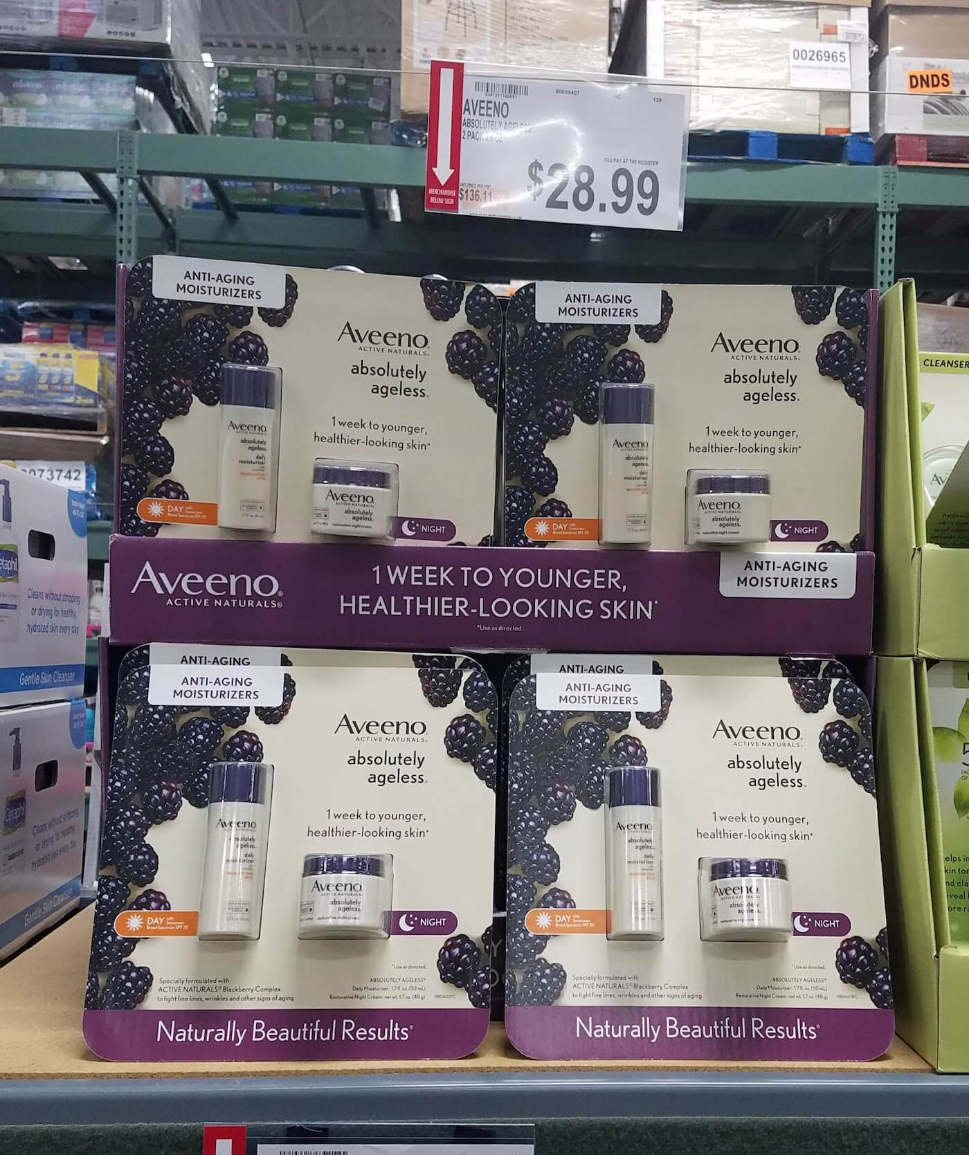 Aveeno Absolutely Ageless 2-pack moisturizer at BJ's: Is it