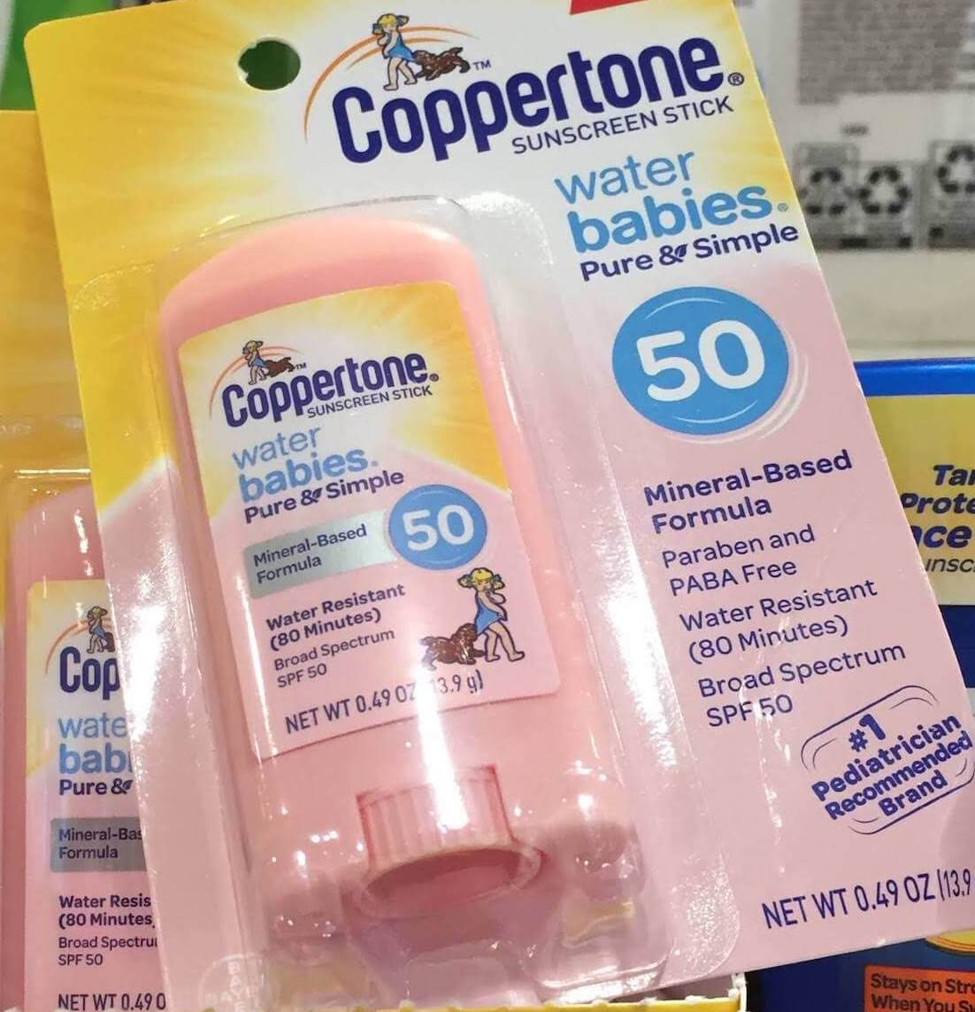 best mineral sunscreen babies - coppertone water babies pure and simple spf 50 review