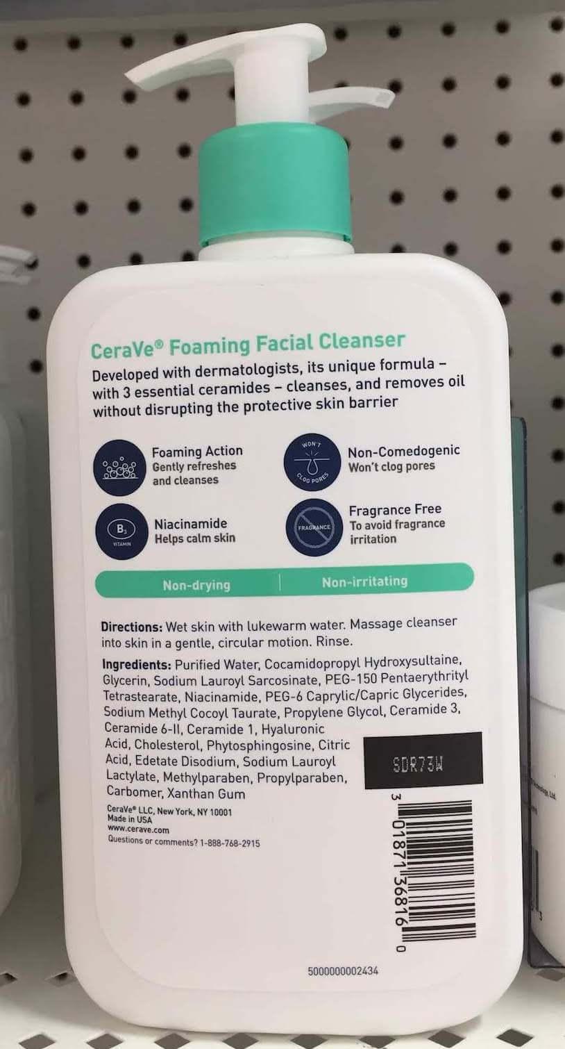 CeraVe foaming facial cleanser formula change review