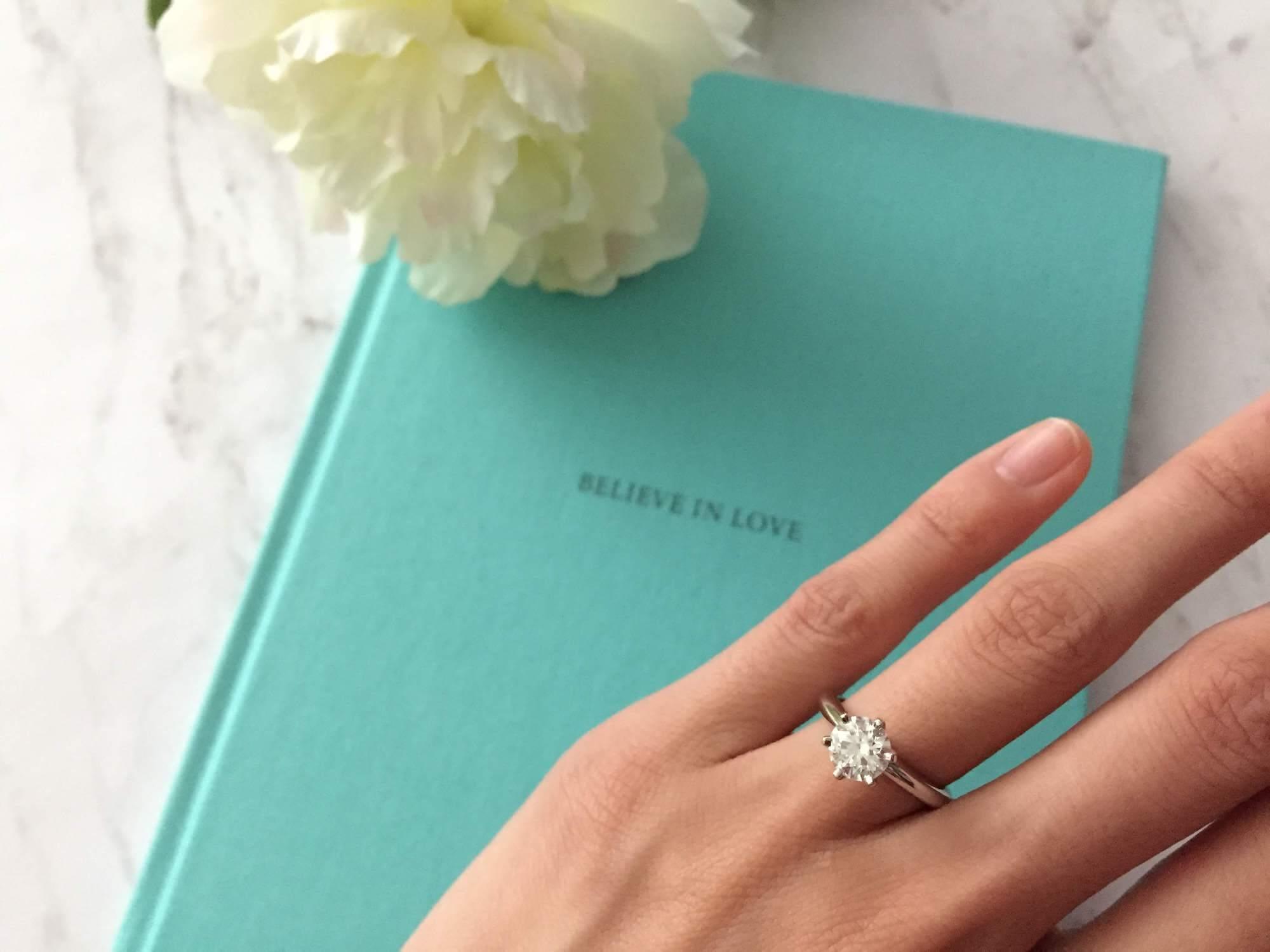 buying engagement ring online - tiffanys setting