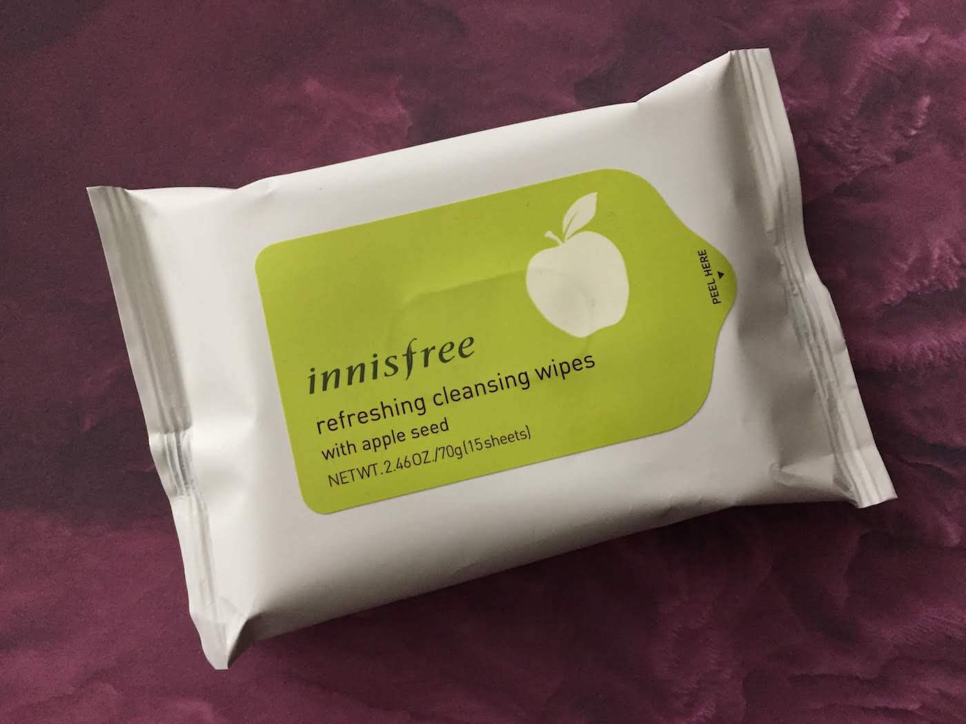 innisfree cleansing wipes apple seed review