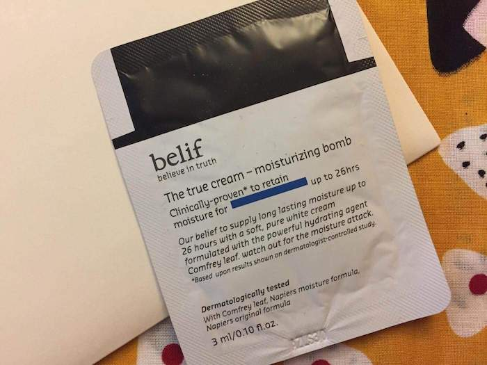 belif truth moisturizing bomb review