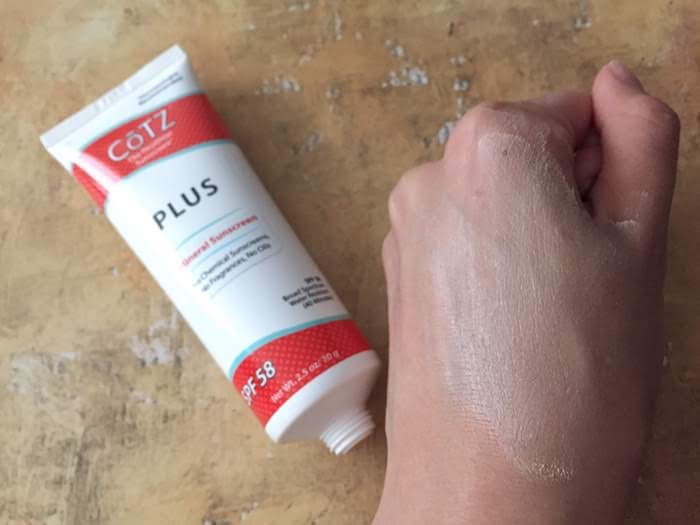 Cotz Plus SPF 58 Mineral Sunscreen texture review