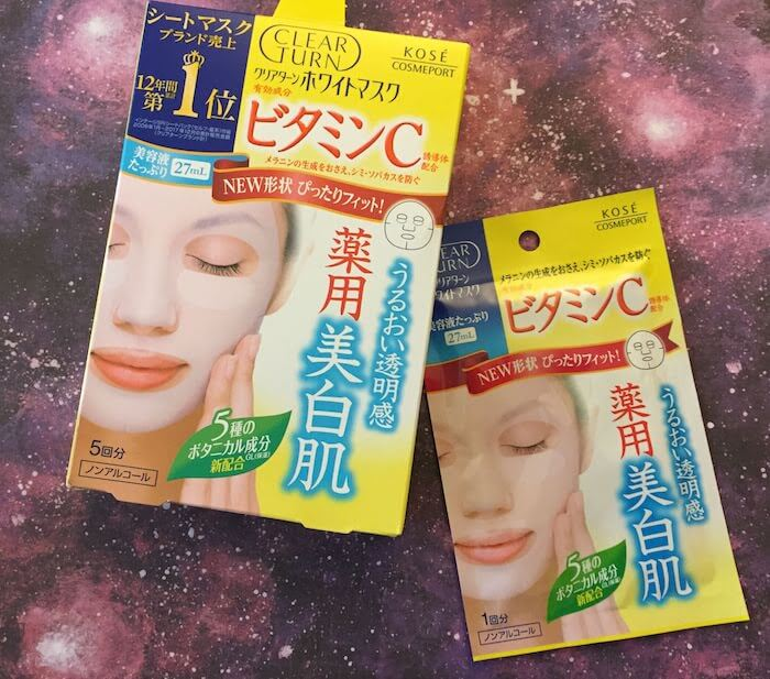 Kose Clear Turn White Vitamin C Face Mask Review