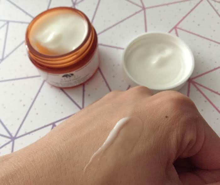 Origins Ginzing Eye cream texture tinted review