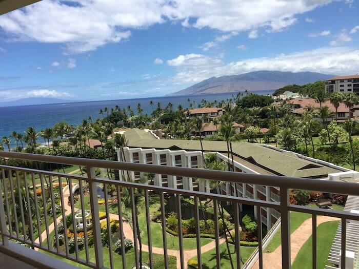 Grand Wailea Maui Review view from ocean view room balcony