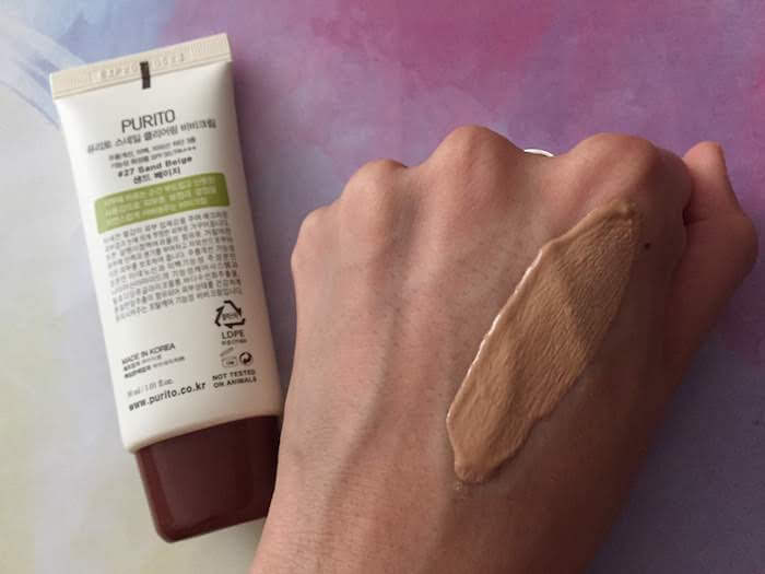 PURITO Snail Clearing BB Cream review No 27 Sand Beige shade