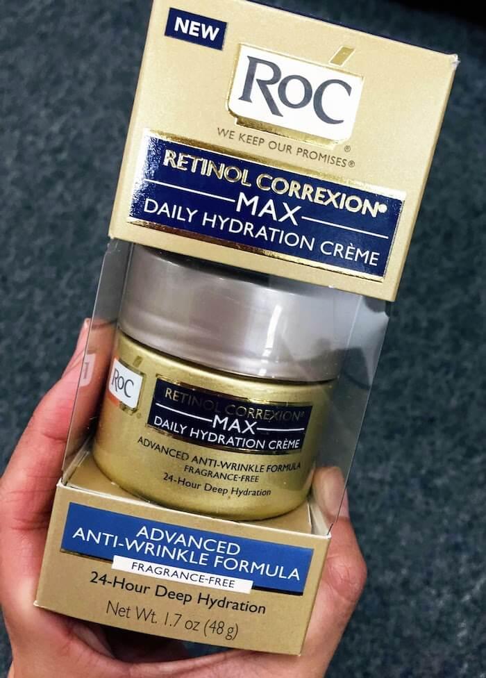 RoC Retinol Correxion Max Hydration Creme Fragrance Free Review vs. THE INKEY LIST Retinol