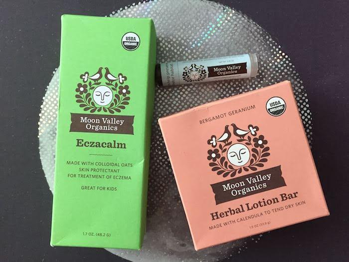 Moon Valley Organics EczaCalm lotion bar and lip balm gift set
