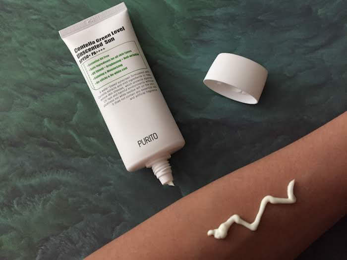 PURITO Centella Green Level Unscented Sunscreen SPF 50+ PA++++ Review texture