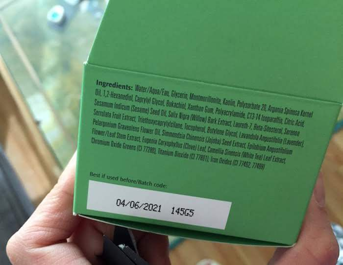 Boscia Matcha Magic Super Antioxidant Mask review ingredients