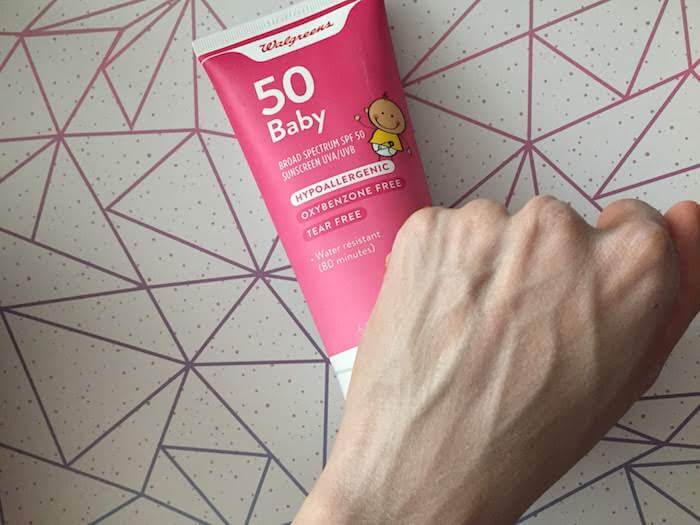 Walgreens Baby SPF 50 Sunscreen review