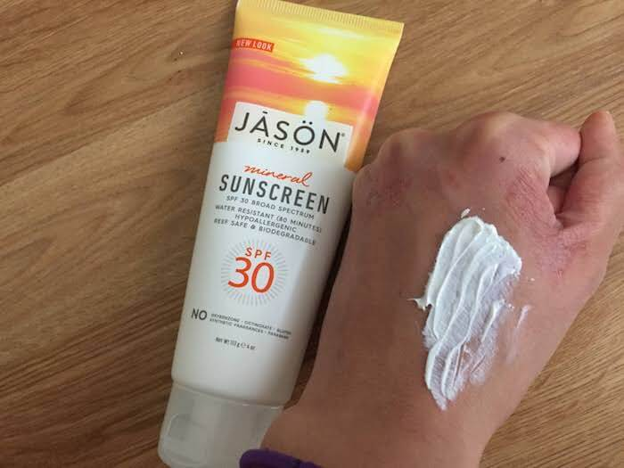 Jason Mineral Sunscreen SPF 30 Review slightly creamy and leaves a white cast